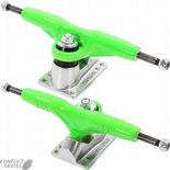 "GULLWING ""Super Pro III"" Skateboard Trucks 9.0"" Old Skool 1980s PAIR GREEN""Pro 3"" Reissues"